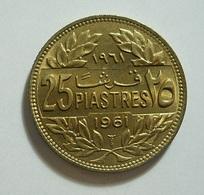 Lebanon 25 Piastres 1961 - Lebanon