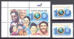 Costa Rica - 2002 - 708/712 - Centenaire Organisation Panaméricaine De Santé - ** - Costa Rica
