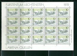LIECHTENSTEIN - FOGLIO INTERO COMPLETO - NON PIEGATO - MNH LUSSO - 1972 -  Definitives  Landscapes 5v - PAESAGGI - Blocchi & Fogli
