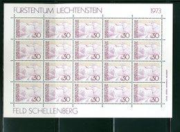 LIECHTENSTEIN - FOGLIO INTERO COMPLETO - NON PIEGATO - MNH LUSSO - 1973 -  Definitives  Landscapes 6v - PAESAGGI - Blocs & Feuillets