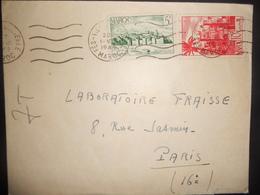 Maroc , Lettre De Fes Ville Nouvelle 1949 Pour Paris - Marokko (1891-1956)
