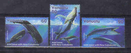Vanuatu 2001 Whales Y.T. 1110/1112 ** - Vanuatu (1980-...)