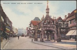 Poultry Cross And Silver Street, Salisbury, Wiltshire, C.1940 - Valentine's Valesque Postcard - Salisbury