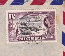 Lettre Nigera Victoria Embrach Suisse Nigéria Colonie Anglaise Queene Elisabeth - Nigeria (...-1960)