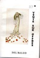 Livre : Catalogue De La 37 Vente R.del Balzo ( En L'état ) - Books