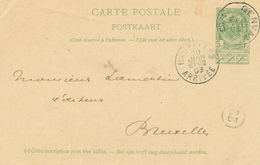 ZZ513 - BRABANT WALLON - Entier Postal Armoiries GENVAL 1903 Vers BXL - Entiers Postaux