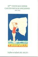 Livre : Catalogue De La 68 Vente R.del Balzo ( En L'état ) Uniquement Publicité - Books