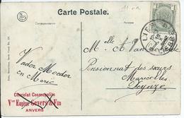 Zichtkaart Gent Met OCB 81 - AfstempelingLIER Type 4R - COBA 2 - 1893-1907 Wapenschild