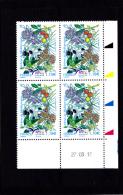 Coin Daté France 2017, Bloc 1.10 € X 4 CD 27.03.17  / /  Euromed Postal / Arbres De Méditérranée - 2010-....