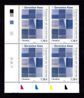 Coin Daté France 2017, Bloc 1.70 € X 4 CD  31.08.17   / /  Geneviève Asse  /Espaces Et Lumières - Coins Datés