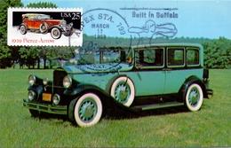 MAXIMUM  USA RACING CARS SET 4 PIECES     (MAGG180090-96) - Cartoline Maximum
