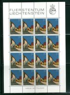 LIECHTENSTEIN - FOGLIO INTERO COMPLETO - NON PIEGATO - MNH LUSSO - 1978 - Definitives  Architecture 12v - Blocs & Feuillets