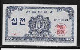 Corée Du Sud - 10 Jeon - Pick N°25 - NEUF - Korea, South