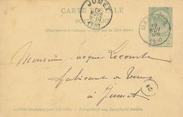 ZZ517 - BRABANT WALLON - Entier Postal Armoiries MARBAIS 1900 Vers JUMET - Entiers Postaux