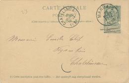 ZZ519 - BRABANT WALLON - Entier Postal Armoiries MARBAIS 1898 Vers CHATELINEAU - Origine GENTISSART - Entiers Postaux
