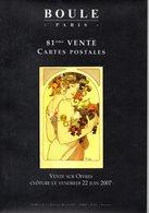 Livre : Catalogue De La 81 Vente  Boule 2007 ( En L'état ) : - Books
