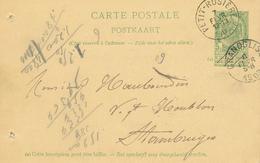 ZZ522 - BRABANT WALLON - Entier Postal Armoiries PETIT ROSIERE 1903 Vers STAMBRUGES - Origine GRAND ROSIERE - Entiers Postaux