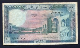 Banconota Libano 100 Livre 1964-88 (circolata) - Libano