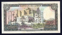 Banconota Libano 50 Livre 1964/88 (circolata) - Libano