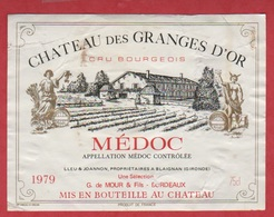 Etiquette De VIN - Médoc - Cru Bourgeois - Château Des Granges D'Or - 1979 - Other