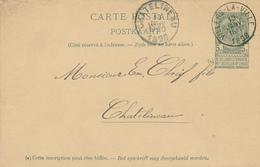 ZZ526 - BRABANT WALLON - Entier Postal Armoiries VILLERS LA VILLE 1898 Vers CHATELINEAU - Entiers Postaux