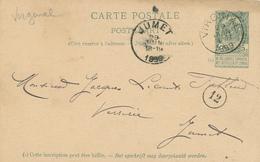ZZ527 - BRABANT WALLON - Entier Postal Armoiries VIRGINAL 1899 Vers JUMET - Origine ASQUIMPONT - Entiers Postaux