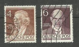 Berlin N°77, 79 Cote 9.50 Euros - Oblitérés
