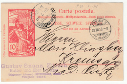 Switzerland UPU Illustrated Postal Stationery Postcard Travelled 1900 To Krems B180508 - Entiers Postaux