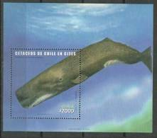 Chili. Faune Protégée, Le Cachalot. Un BF Neuf ** Nr 73.  Cote 13,50 € - Baleines