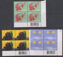 Europa Cept 2001 Portugal, Azores, Madeira 3x1v Bl Of 4 (corner, Code)  ** Mnh (38733B) - 2001