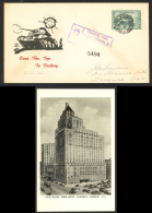Canada Sc# 259 FDC Post Card (Registered) 1943 4.17 Royal York Hotel - ....-1951