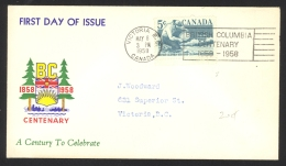 Canada Sc# 377 FDC (a) 1958 5.8 Miner Panning Gold - 1952-1960
