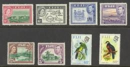 Fiji Sc# 128Ab-318 MNH Lot/8 Assorted - Fiji (...-1970)