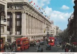 AR43 Oxford Street, London - Busses, Taxis - John Hinde Postcard - Buses & Coaches