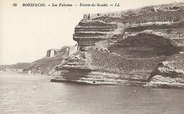 CARTE POSTALE ORIGINALE ANCIENNE : BONIFACIO LES FALAISES ENTREE DU GOULET CORSE DU SUD  (20) (2A) - Sonstige Gemeinden