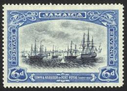 Jamaica Sc# 95 MH 1921-1923 6p Port Royal - Jamaica (...-1961)