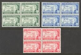 Jamaica Sc# 175-177 MH Block/4 1958 2p-6p West Indies Federation - Jamaica (...-1961)
