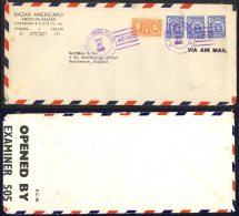 Panama Sc# 240X3 Air Mail (CENSORED) On Cover 1942 3.21 Arms - Panama