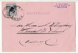 Netherlands Postcard Briefkaart Travelled 1894 To Austria B180508 - Periode 1891-1948 (Wilhelmina)