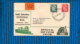 New Zealand Cover Railway Traveling Post Office 1959 - Trains