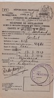 BERLIET Taxi 1927 /   Recipissé  Declaration Mise En Circulation  Vehicule A Moteur / PREF 66 / TF - Automobile