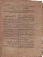 """""""L""""AMI DU ROI"""" JOURNAL PARAISSANT TS LES JOURS DATE DU DIMANCHE 27 JUIN 1792 - EN 2 FEUILLETS - Journaux Anciens - Avant 1800"""