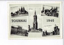 46442 - TOURNAI 1940 - GRAND PLACE - LE BEFFROI - RUE DE LA TETE D OR - HOTEL DE VILLE - Tournai