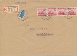 BRD 4x152 Waagerechter Streifen Auf Großformatigem RF-Brief - Briefe U. Dokumente