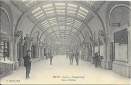 LOT 1805002 - METZ - GARE - INTERIEUR - CIRCULE OBLITERATION DU 9 JUIN 1910 - Metz