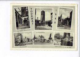 46443 - TOURNAI 1940 - GRAND PLACE - LA TOUR DE L EGLISE ST BRICE - RUE DERASSE - RUE DE L YSER - Tournai