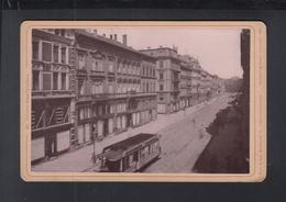 Kabinettfoto St. Johann Untere Bahnhofstrasse Strassenbahn - Saarbruecken