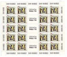 CROATIA 253,unused Sheet - Tag Der Briefmarke