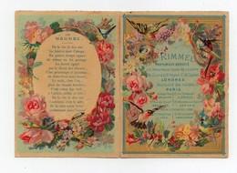 CHROMO Calendrier Rimmel Parfumeur 1875 En 2 Morceaux - Calendars