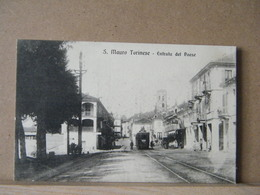 MONDOSORPRESA, SAN MAURO TORINESE (TORINO) ENTRATA DEL PAESE, ANIMATA(1920/1930) NON VIAGGIATA - Other Cities